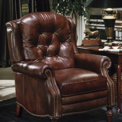 Queen Anne Wing Chair Old Metal Lawn Chairs High Quality Leather Recliner Victoria By Bradington Young