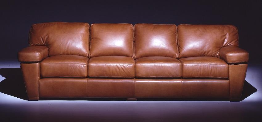 Leather Sofas Prescott Leather Four Cushion Sofa