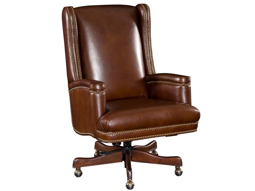 In Stock Leather Furniture Brown Leather Desk Chair