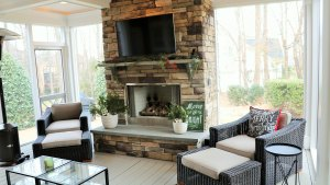 Cozy And Comfortable Screen Porch In Fort Mill