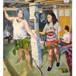 Adam & Eve (Danny & Angela) - painting