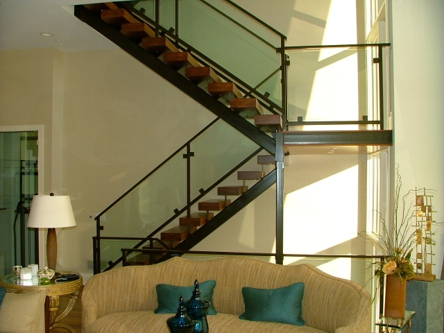 Stairs Finelli Ironworks   Staircase Wood And Glass   Commercial Wood   New   Ash Wood   Simple Glass   Glass Bal
