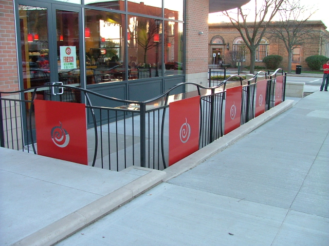 custom restaurant patio fence finelli