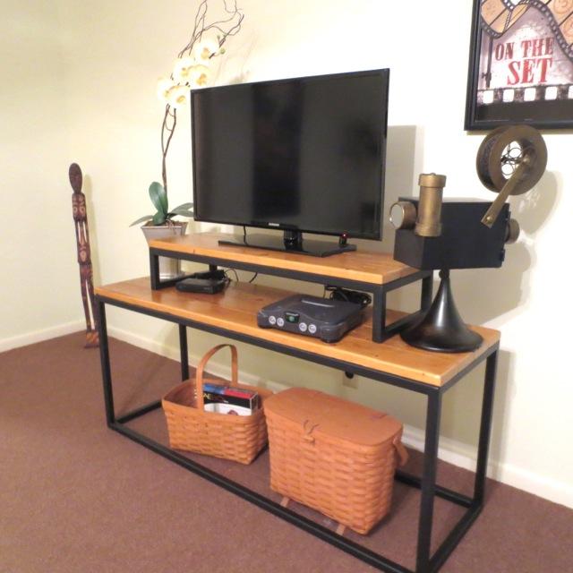 Custom Wood and Iron TV Stand