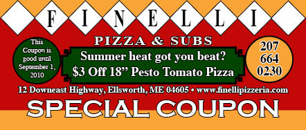 $3 off Pesto Tomato Pizza until September 1, 2010