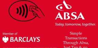 Absa tap and go