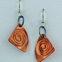 Handmade Copper Spiral Earrings  Finely Found Designs