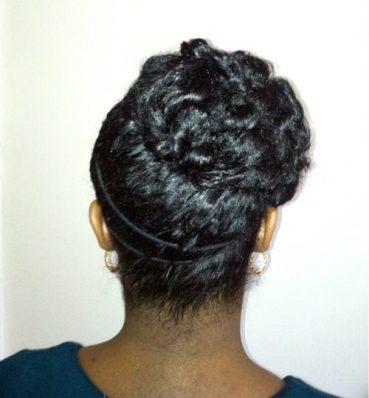 updo for medium length hair