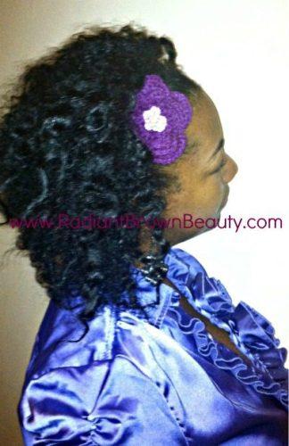 crocheted hair pin