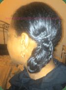 braided hair gunned