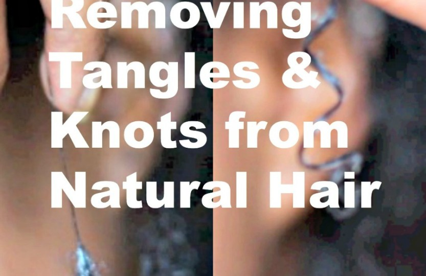 removing tangles and knots from natural hair