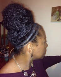 protective styling with a bun