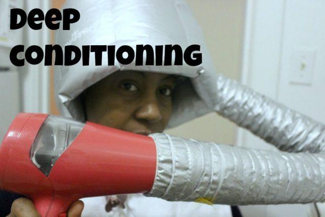 deep conditioning under soft bonnet dryer