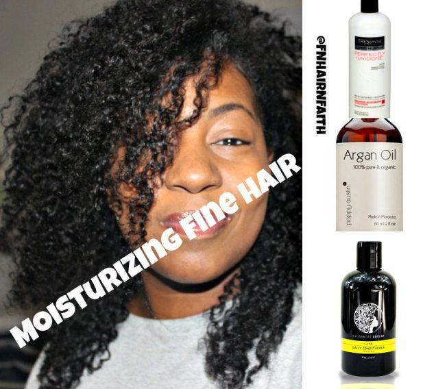 moisturizing fine natural hair