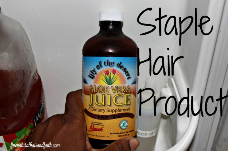 aloe vera juice or natural hair