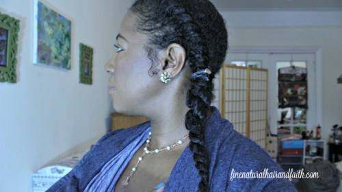 quick natural hair style
