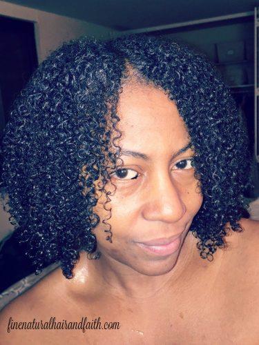 detangled fine hair