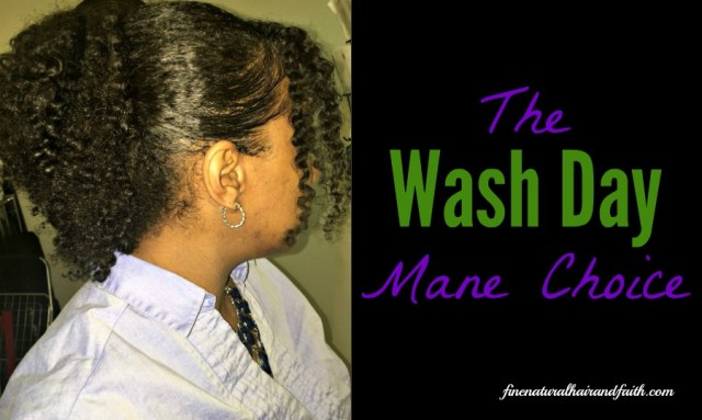 using the mane choice products on wash day