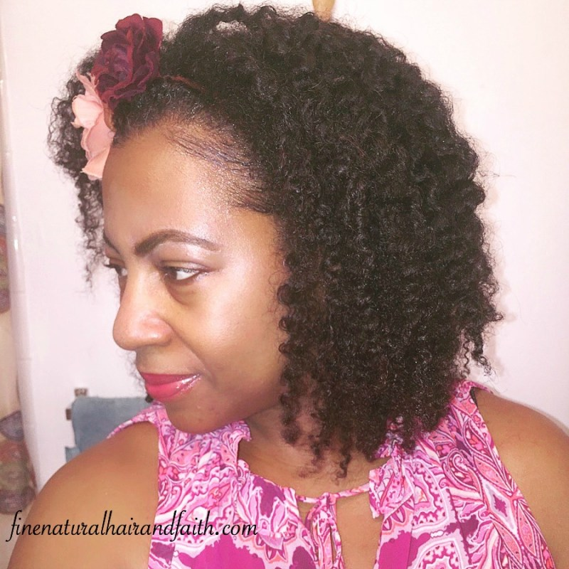 twist out on fine natural hair