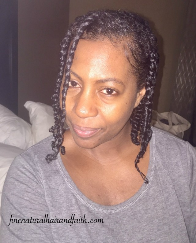 twists on fine natural hair