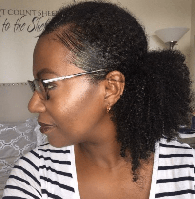 fine natural hair ponytail