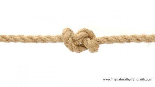 single strand knot