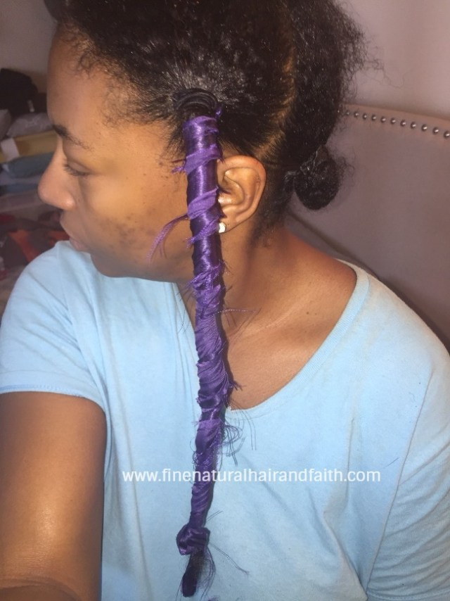 stretching fine natural hair