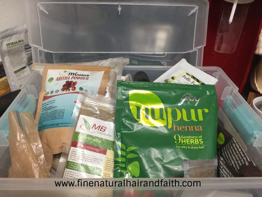 natural herbal hair powders