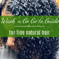 Go-to Guide for Doing Wash and Go's on Fine Hair