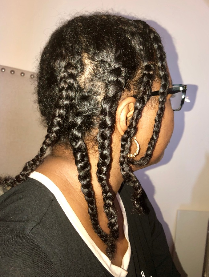 Low Manipulation Styling With Braids