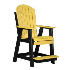 Yellow Adirondack Chairs Plastic Black And White Lounge Chair Cushions Balcony Recycled Patio Fine Oak Things