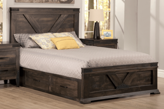 Chattanooga Queen Storage Platform Bed  Solid Wood Furniture