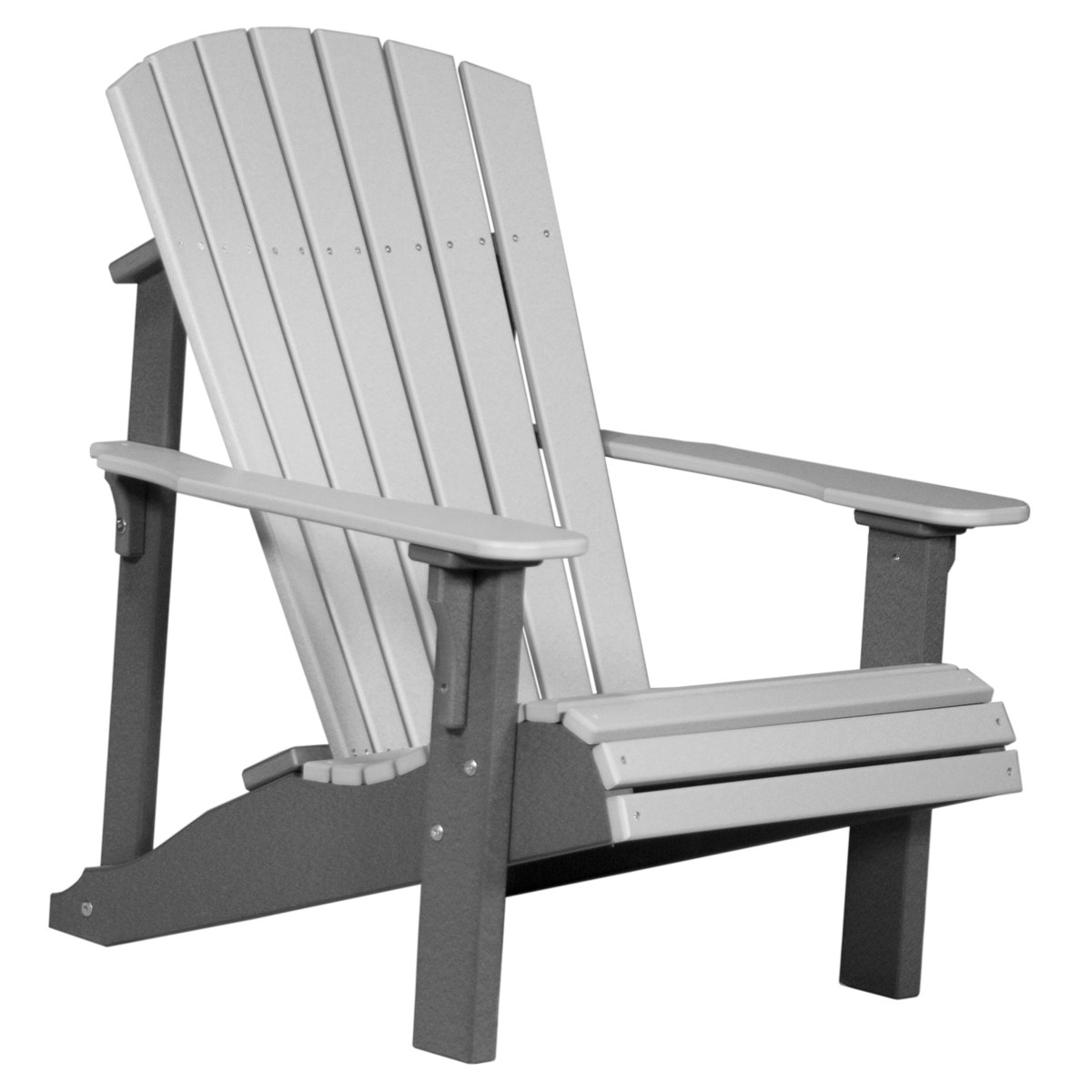 gray adirondack chairs swinging chair lift video deluxe recycled patio fine oak things