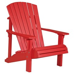 Red Adirondack Chairs Plastic Accent Chair And Table Set Deluxe Recycled Patio Fine Oak Things