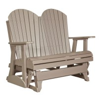 Double Adirondack Glider | Recycled Patio | Fine Oak Things