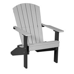 Gray Adirondack Chairs White Oversized Chair With Ottoman Lakeside Recycled Patio Fine Oak Things
