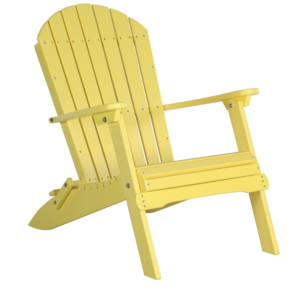 folding chair yellow vinyl dining covers adirondack recycled patio fine oak things