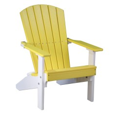 Yellow Adirondack Chairs Plastic S Bent And Bros Child Rocking Chair Lakeside Recycled Patio Fine Oak Things