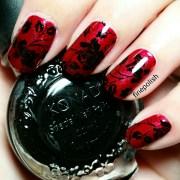 black rose gothic nail art fine