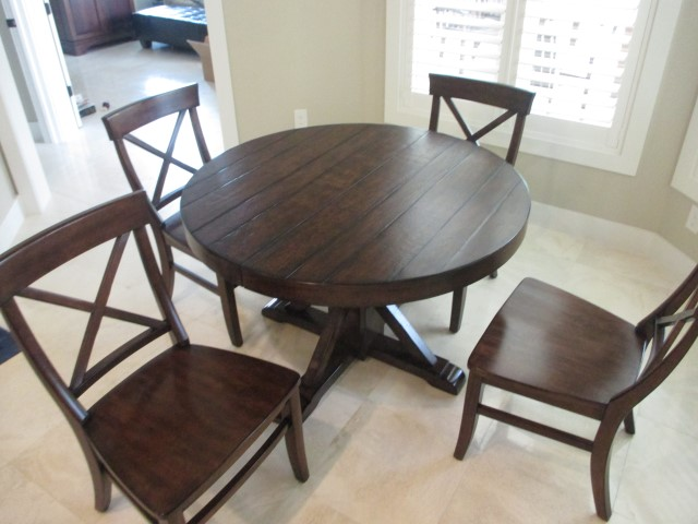 pottery barn benchwright dining table 4 chairs