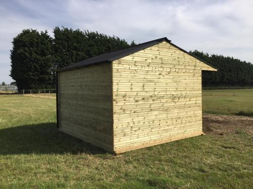 12 x 12 Field Shelter Shiplap Timber Apex Roof