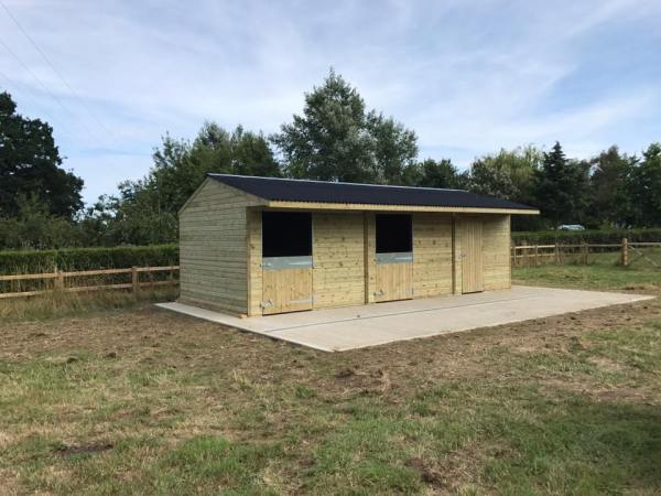 12x30 Stable Block Shiplap Timber