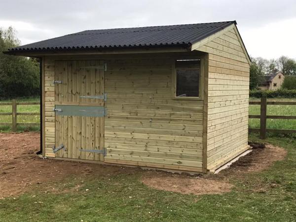 12 x 12 Stable Shiplap Timber Front View