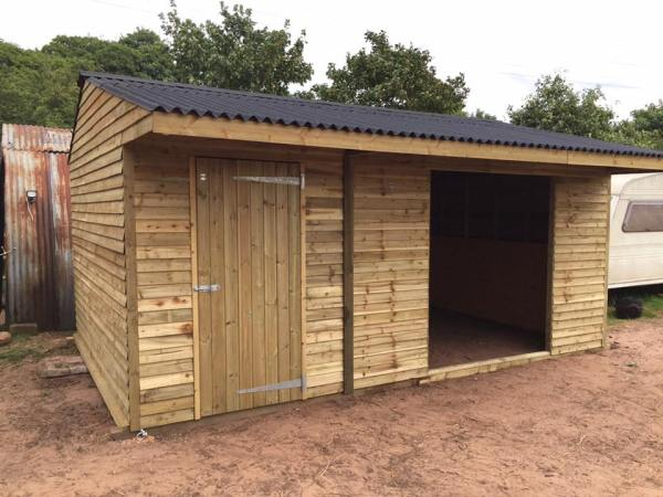 Field Shelter With Store 12 x 18 Weatherboard Timber