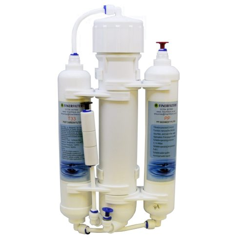 3 Stage Aquarium Reverse Osmosis Compact 50 GPD Unit for Tropical Fish, Marine & Discus by Finerfilters