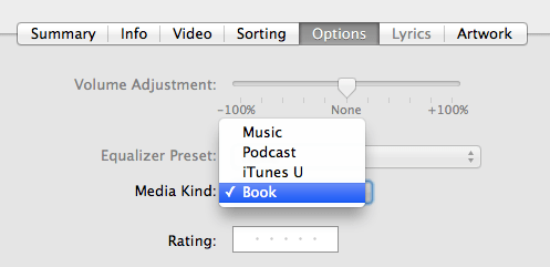 iTunes digital booklets media kind