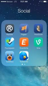 iOS 7 folder
