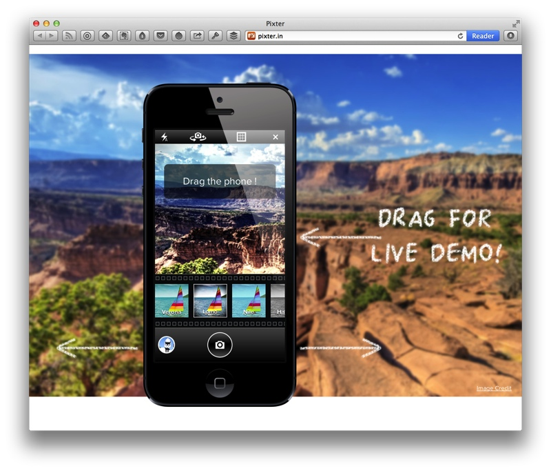 Pixter website demo