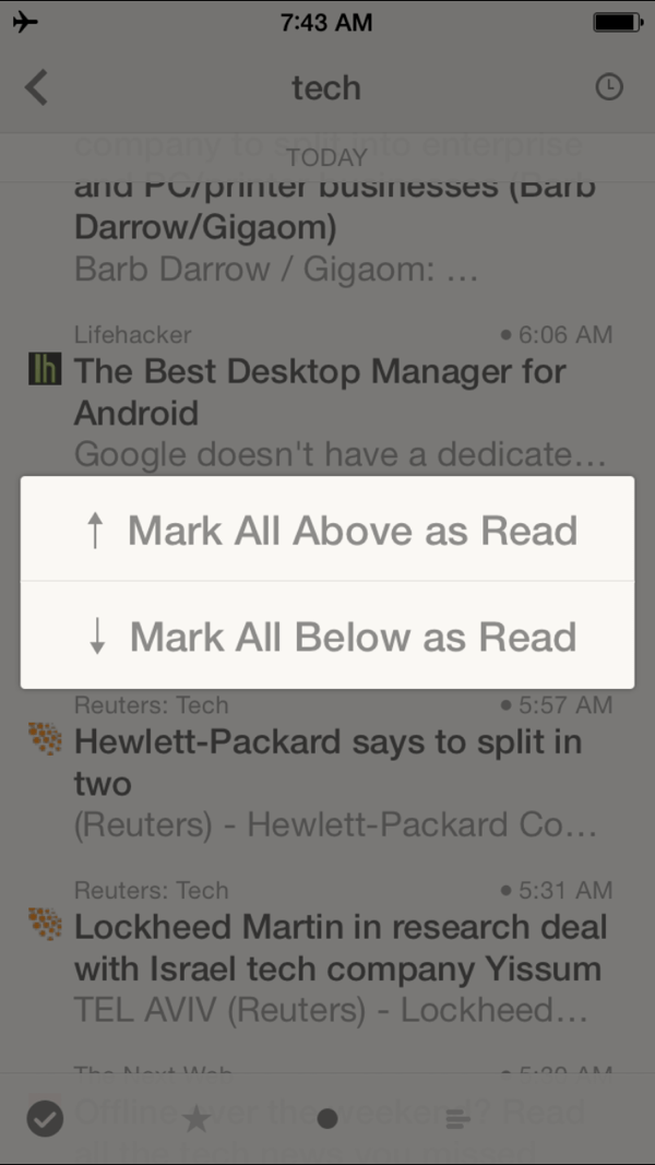 Reeder mark read above below