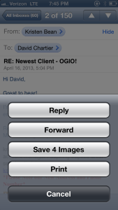 Mail save multiple images Camera Roll